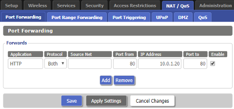 """alt=""""DD-WRT - Forward network port"""""""