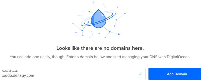 DigitalOcean add domain