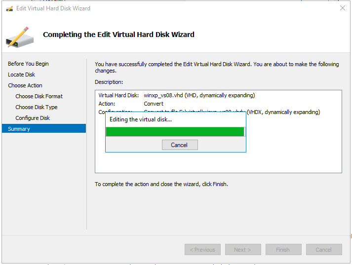 alt='Hyper-V VHDX conversion progress'