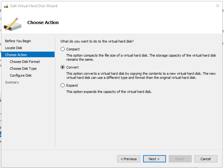 alt='Hyper-V Choose Action Convert'