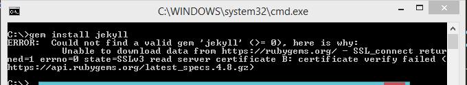 """Alt """"Jekyll SSL certificate install error"""""""
