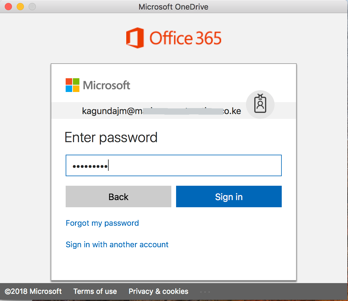 "alt=""OneDrive sign in password screen"""