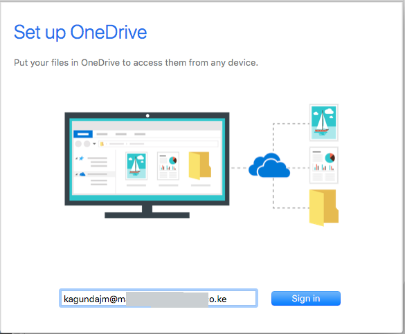"alt=""OneDrive Setup sign in screen"""