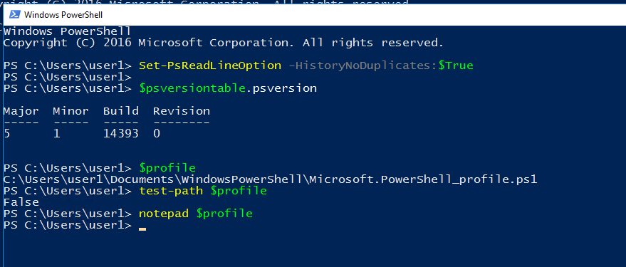 "alt=""powershell history commands"""