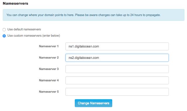 """alt=""""Update domain registrar DNS"""""""
