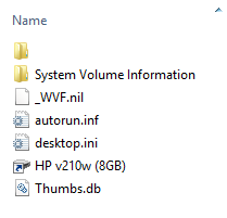 """Alt """"Visible files/folders after attrib command"""""""